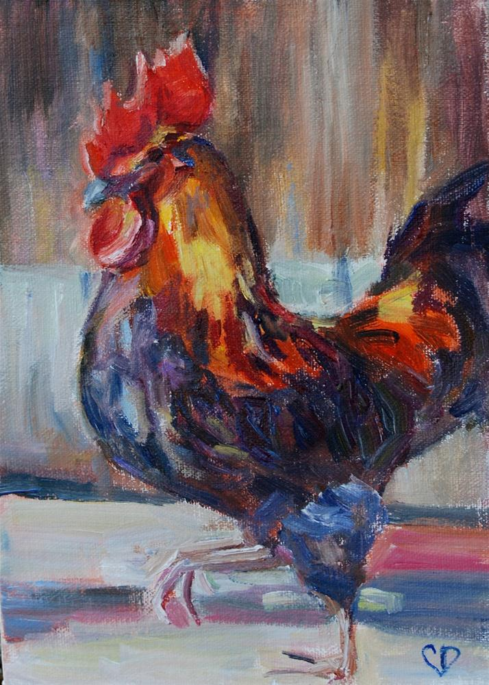 """Rooster Strut"" original fine art by Carol DeMumbrum"