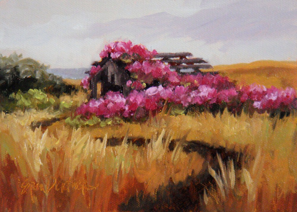 """""""Bygone Roses"""" original fine art by Erin Dertner"""
