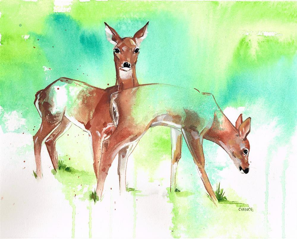 """""""No. 8 Deer"""" original fine art by Annabel Chance"""