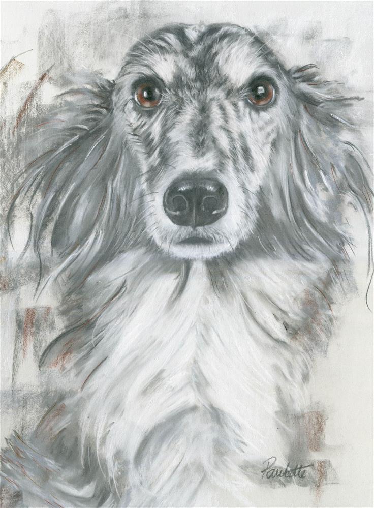 """Chief"" original fine art by Paulette Farrell"
