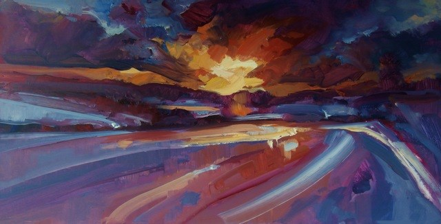 """Out West"" original fine art by Anne Wood"