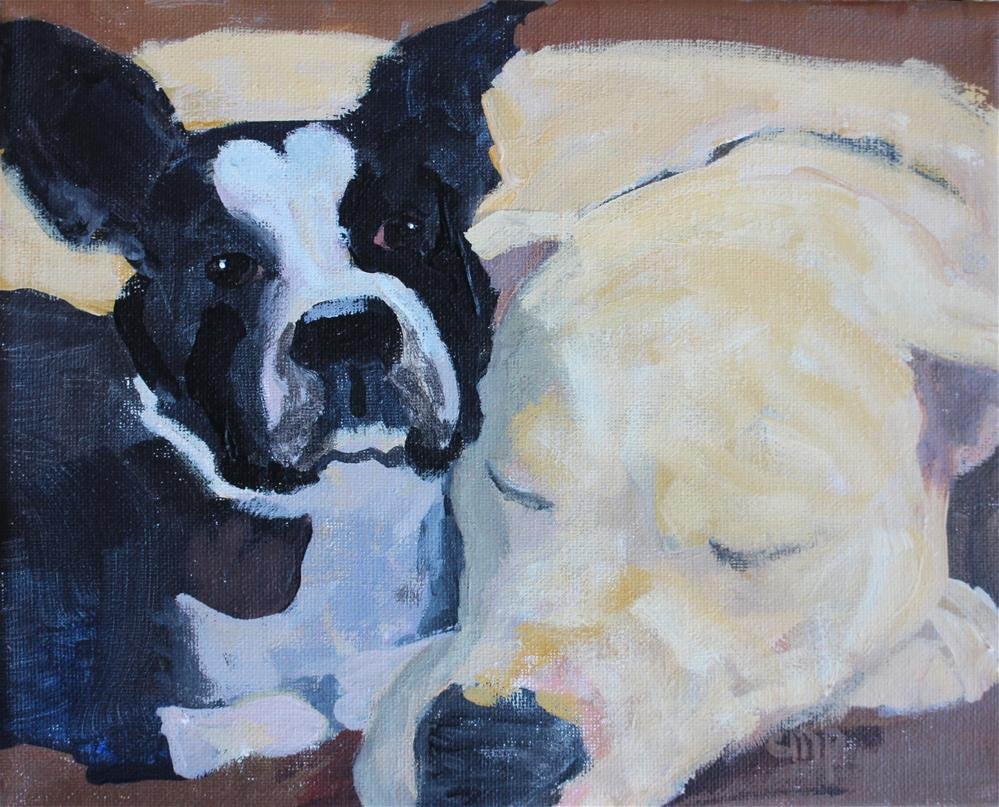 """Dog love"" original fine art by Christine Parker"