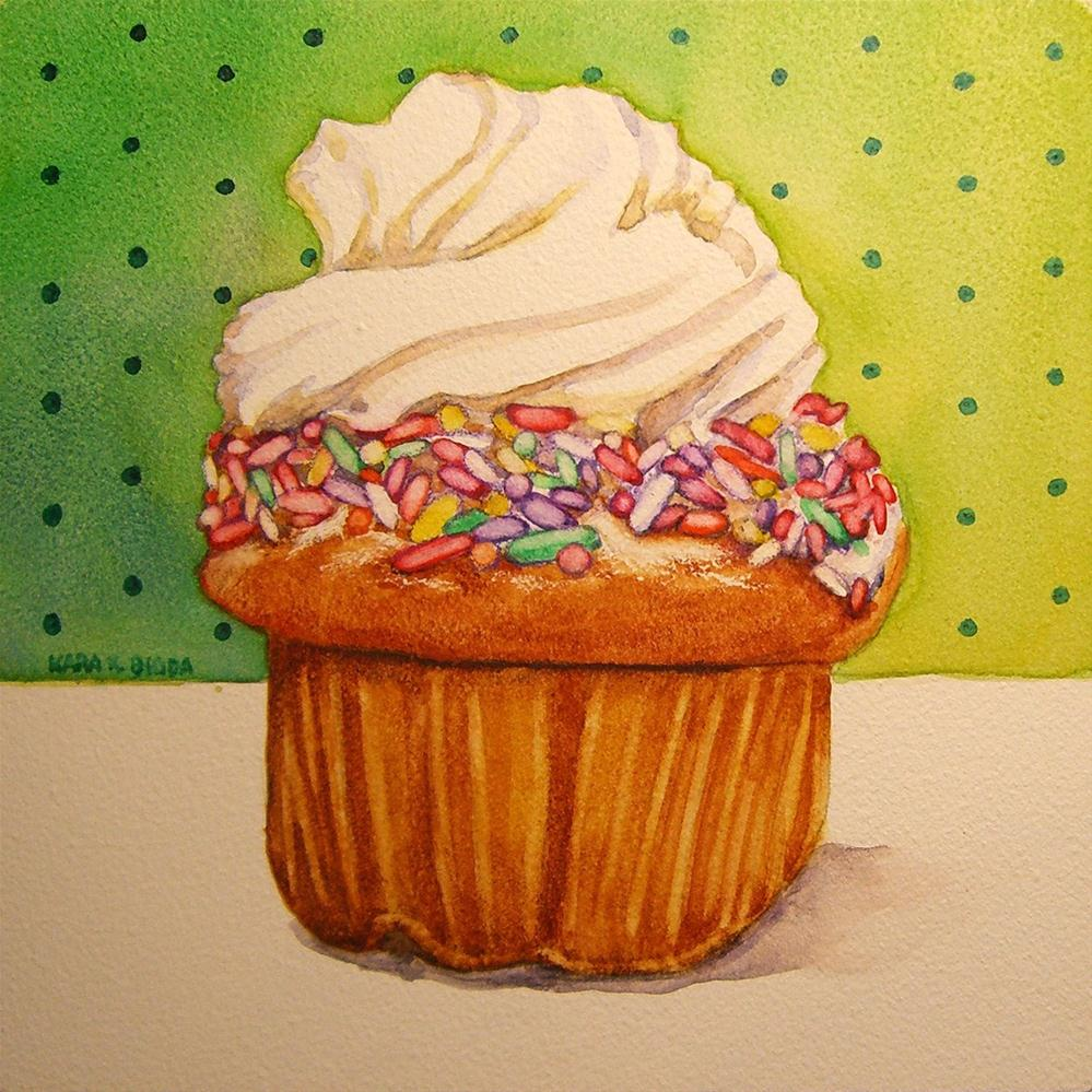 """Rainbow Sprinkles"" original fine art by Kara K. Bigda"