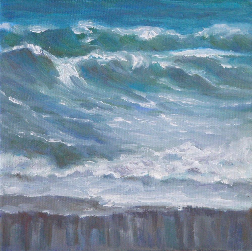 """On the Upside, 6x6 Oil on Canvas Panel"" original fine art by Carmen Beecher"