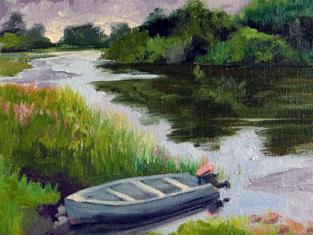 """Goin Fishin"" original fine art by Nancy Paris Pruden"