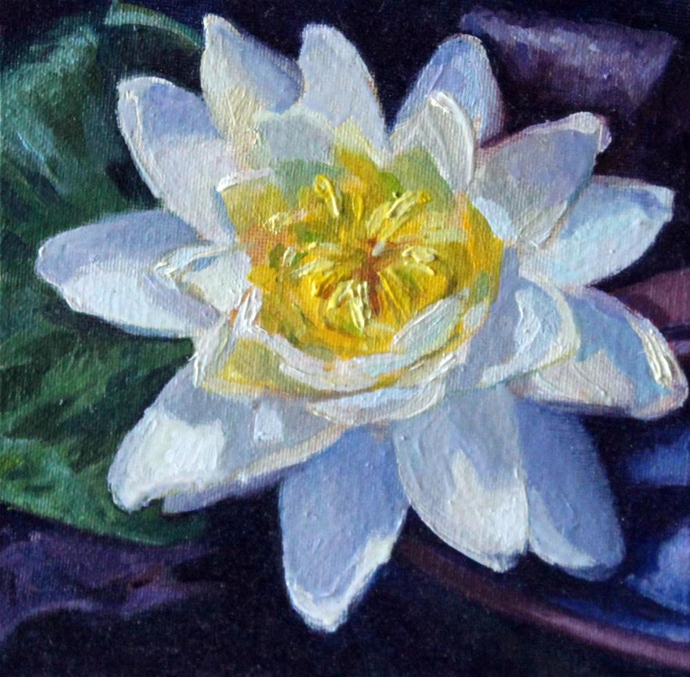 """Waterlily #2"" original fine art by Neringa Maxwell"