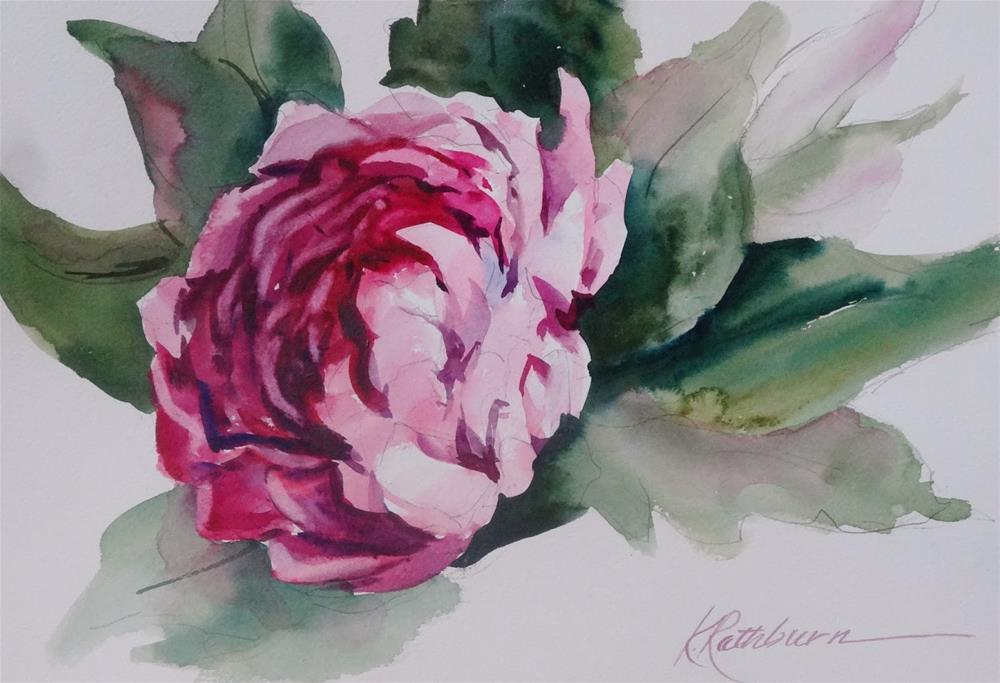 """Peony I - demo"" original fine art by Kathy Los-Rathburn"