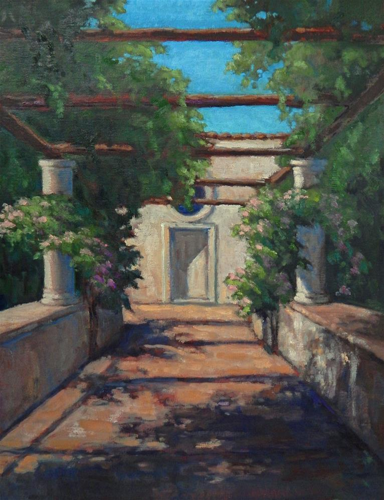 """Capri Loggia"" original fine art by Lisa Kyle"
