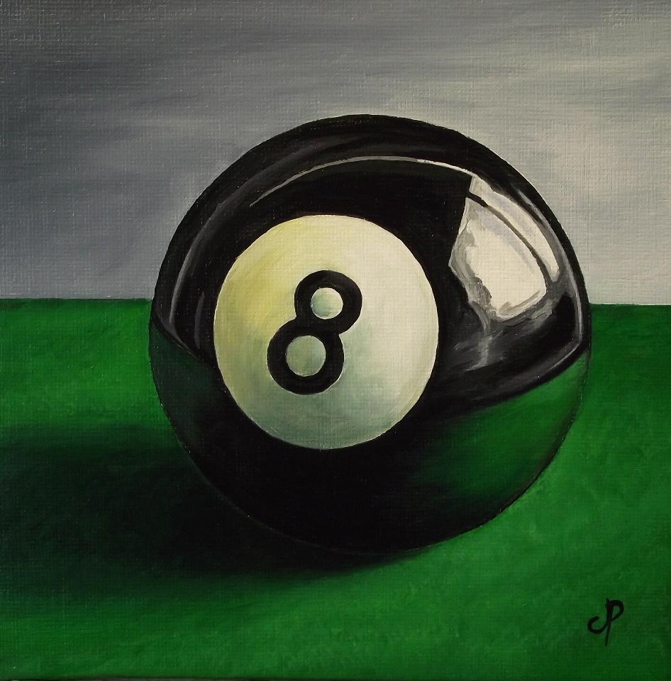 """8 Ball"" original fine art by Jane Palmer"