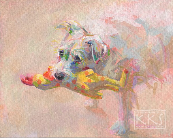 """Macy's Chicken"" original fine art by Kimberly Santini"