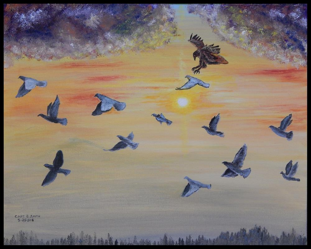 """The Last Sunrise - Panel 3 of 3"" original fine art by Captain B Smith"