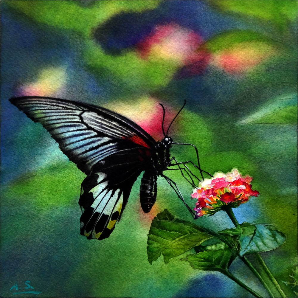 """Spring Feast"" original fine art by Arena Shawn"
