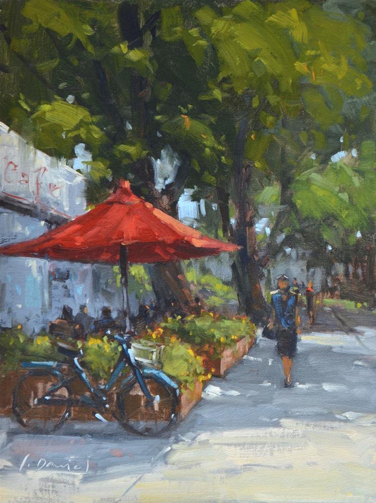 """""""Cafe De Flore"""" original fine art by Laurel Daniel"""