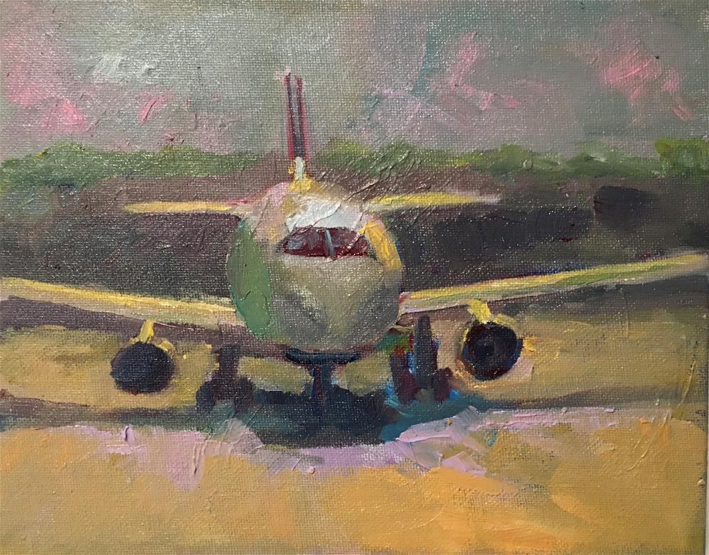 """Ready to BOard"" original fine art by Marcia Bergtholdt"