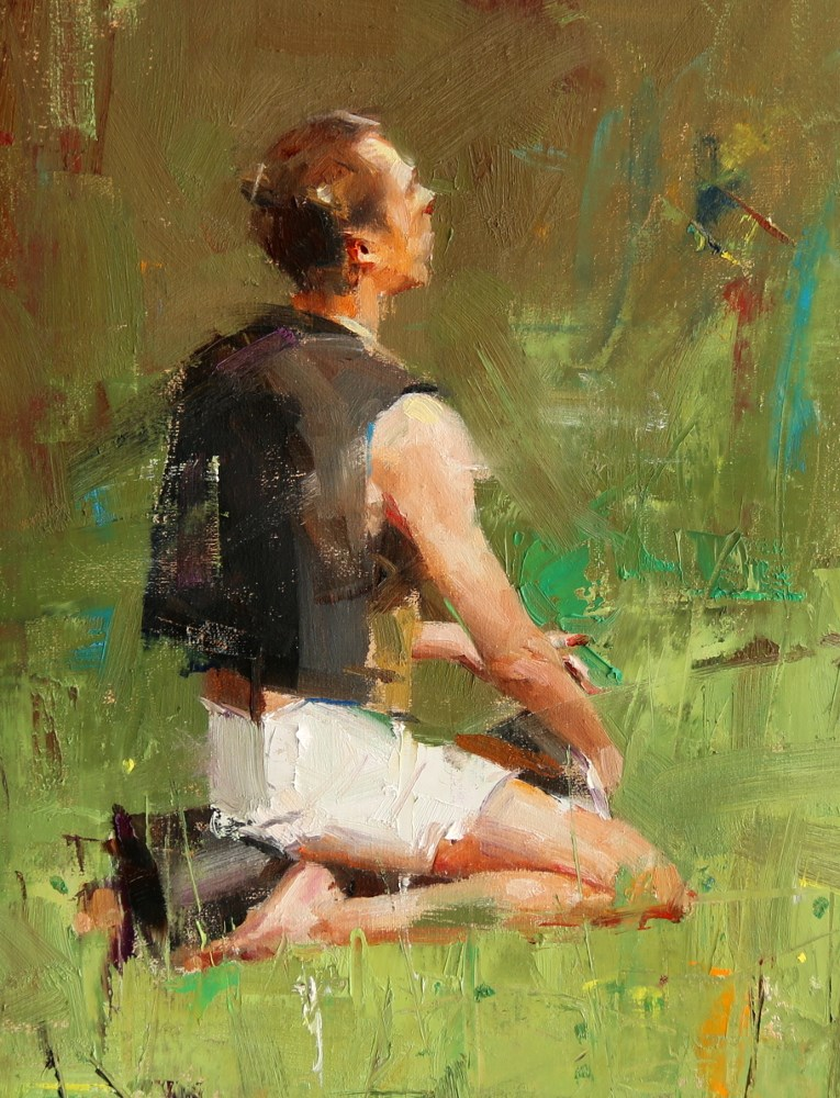 """Drummer 1"" original fine art by Qiang Huang"