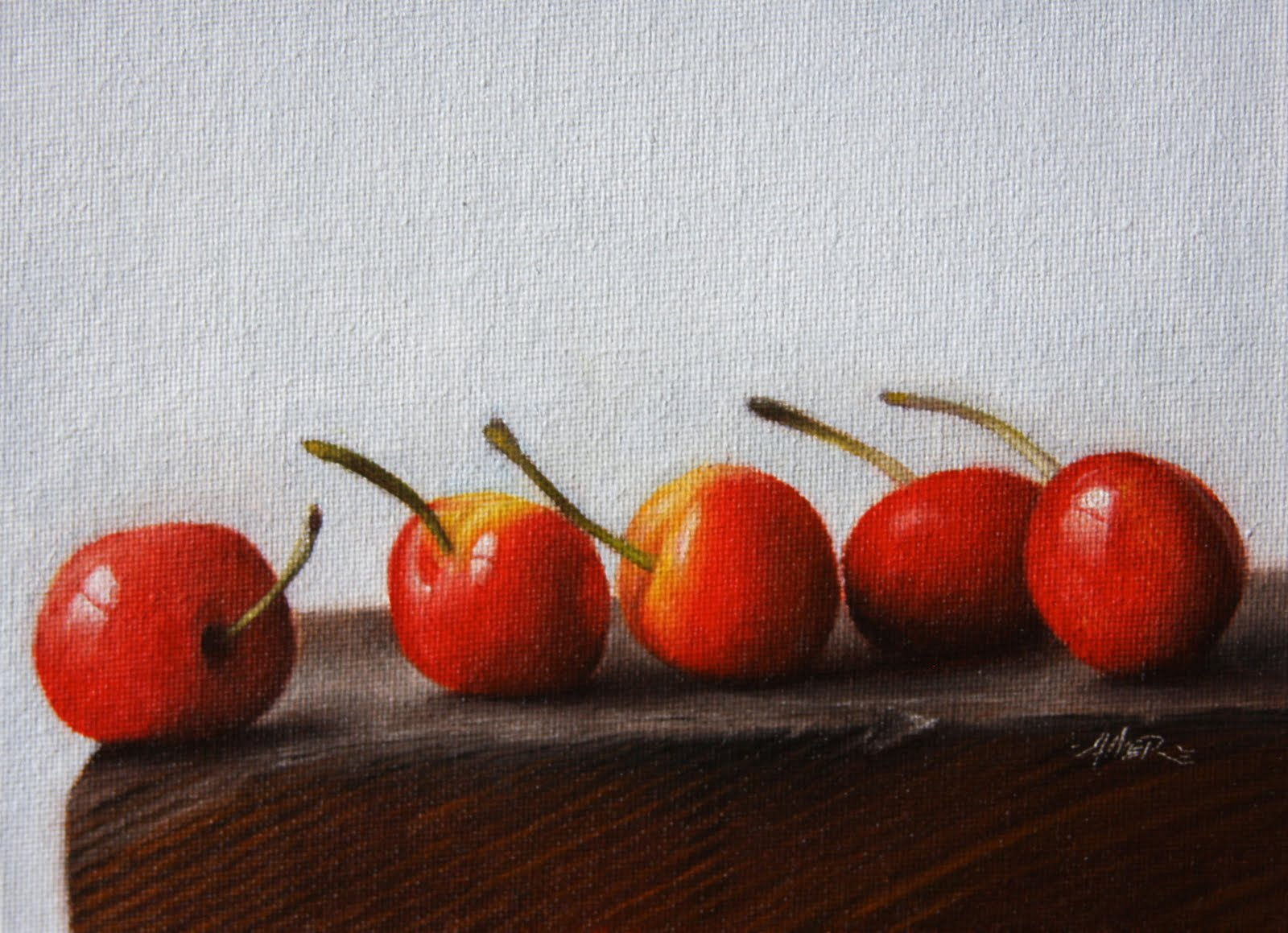 """Saving Cherries"" original fine art by Jonathan Aller"