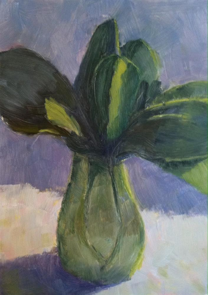 """Baby Bok Choy"" original fine art by Katharine March"