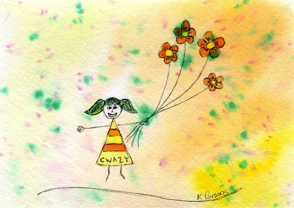 """""""Cwazy"""" original fine art by Kali Parsons"""