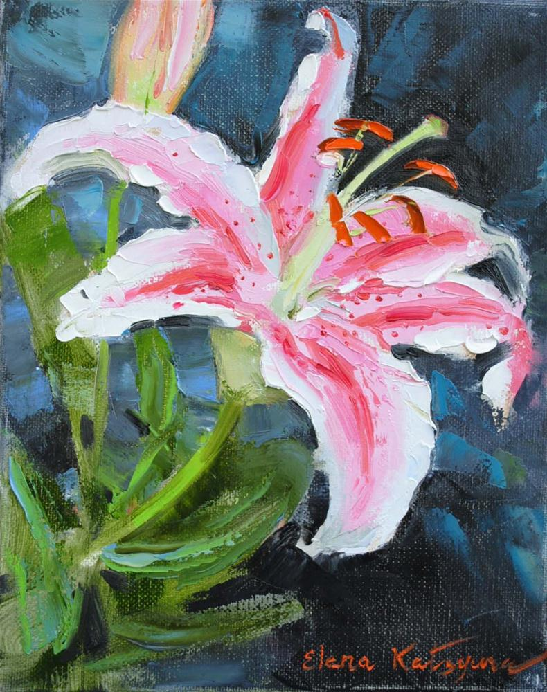 """July Lily"" original fine art by Elena Katsyura"