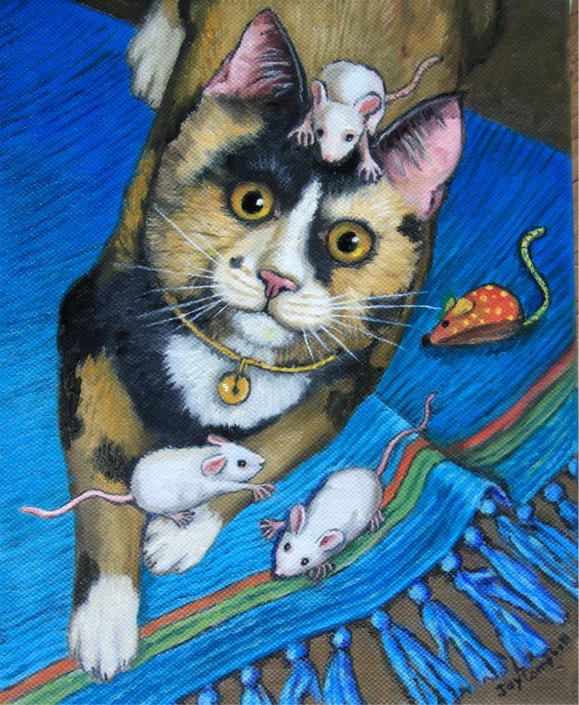 """Mouse Problems"" original fine art by Joy Campbell"