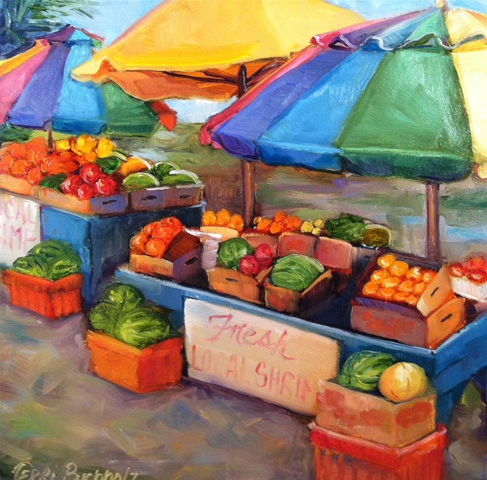 """Fresh Shrimp"" original fine art by Terri Buchholz"
