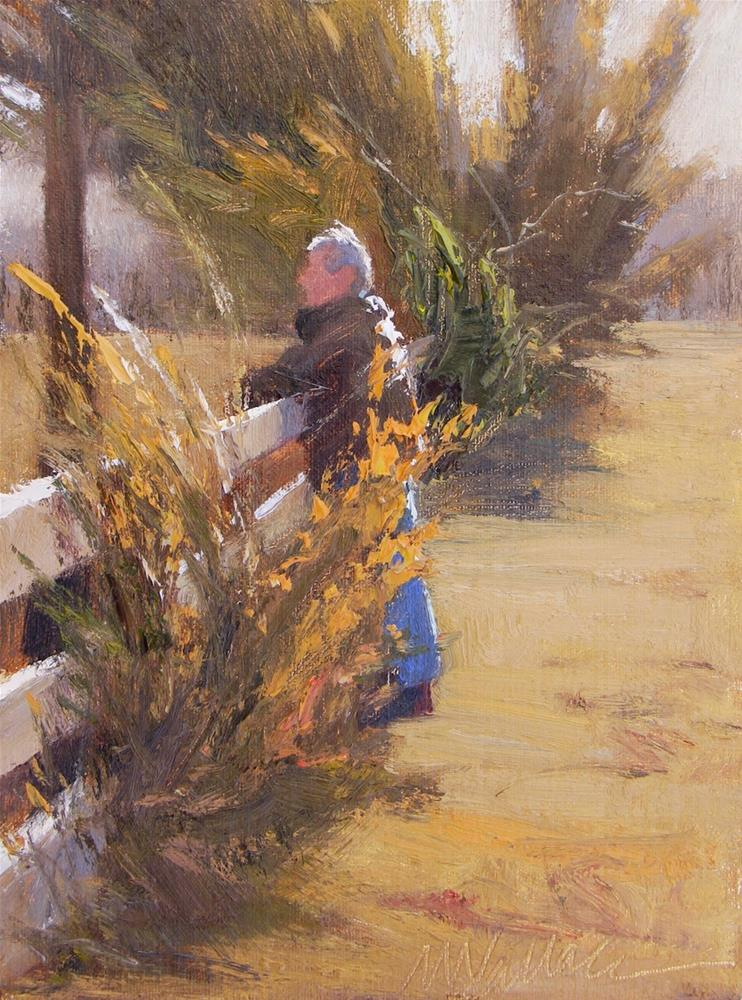 """#26 Fence dreaming 1"" original fine art by Nancy Wallace"