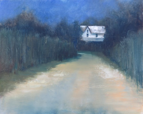"""Dusk on Rabbit Hill"" original fine art by Beth Bathe"