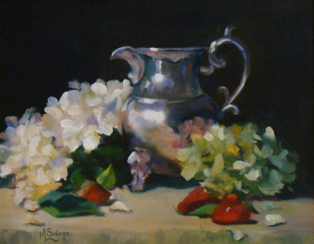 """Strawberries and Cream"" original fine art by Marta L Suarez"