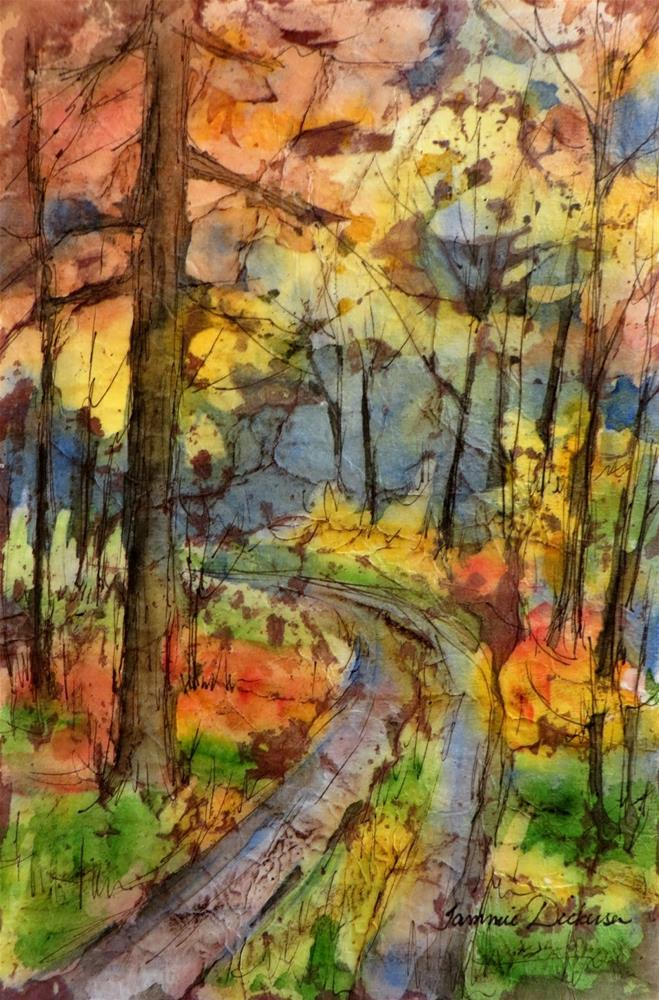 """Autumn Ablaze"" original fine art by Tammie Dickerson"