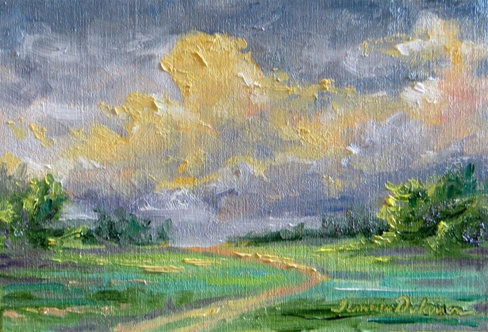 """Path to Golden Clouds"" original fine art by Tammie Dickerson"