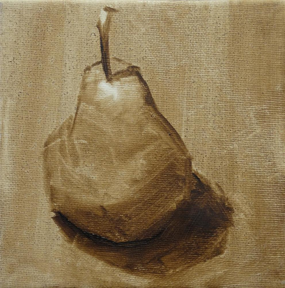 """Pear "" original fine art by Carolyn McDonald"