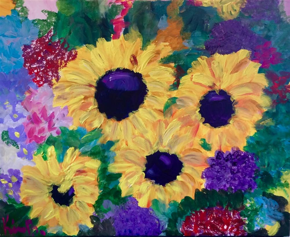 """The Last of the Sunflowers"" original fine art by Kimberly Balentine"