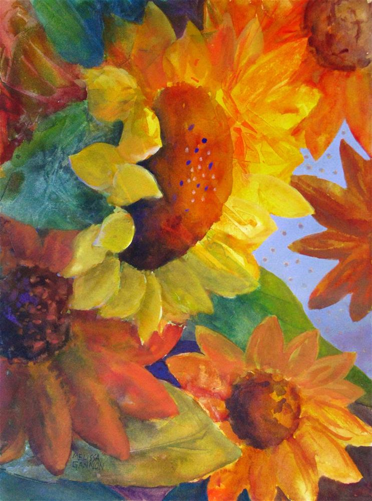 """Dancing Flowers"" original fine art by Melissa Gannon"