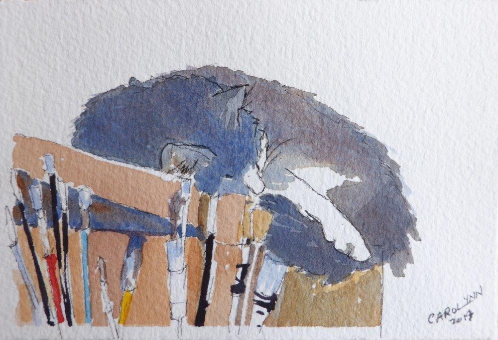 """Paintbox Hero"" original fine art by Carolynn Doan"
