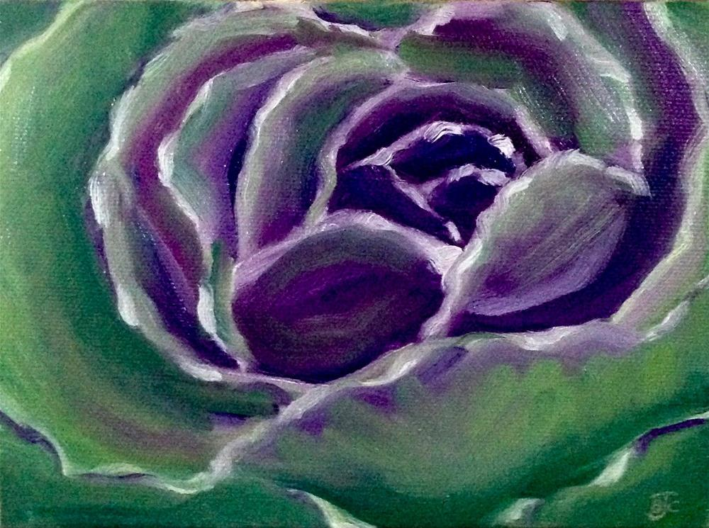 """Cabbage Flower"" original fine art by Bobbie Cook"