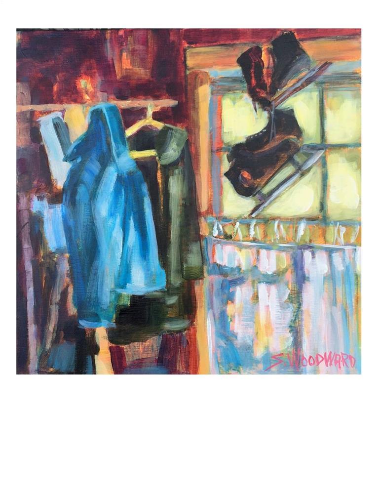 """""""Garage Stuff 1"""" original fine art by Suzanne Woodward"""
