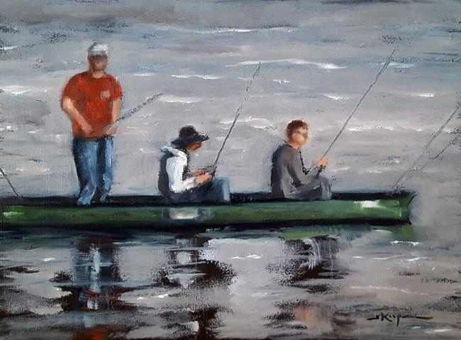 """""""Canoe x 3"""" original fine art by Shelley Koopmann"""
