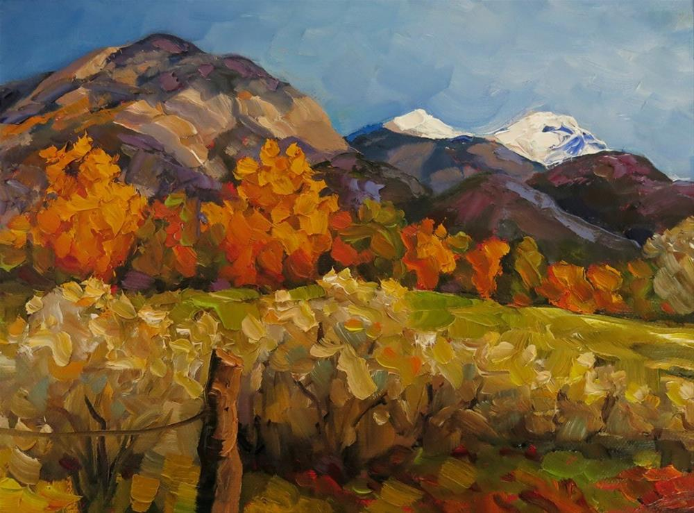 """TRUCHAS PEAKS"" original fine art by Dee Sanchez"