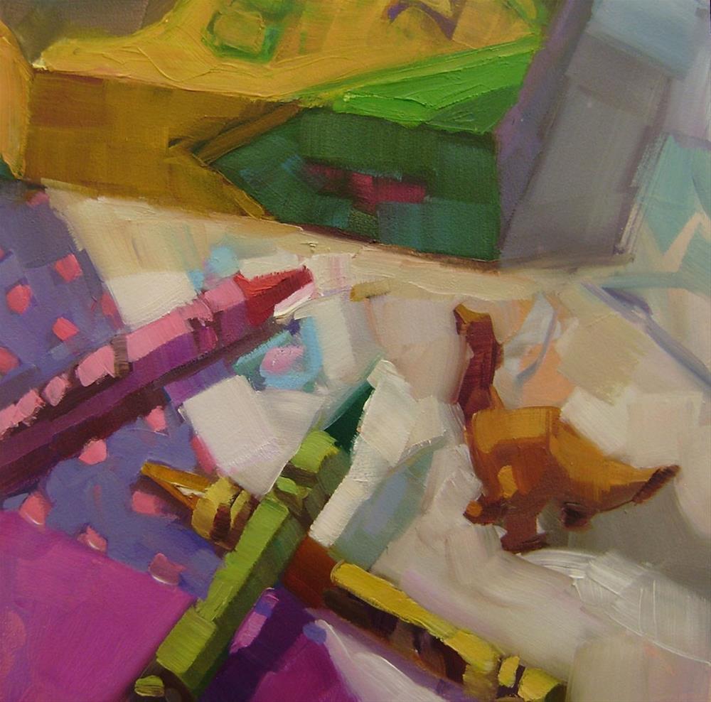 """Crayonosaurus"" original fine art by Holly Storlie"