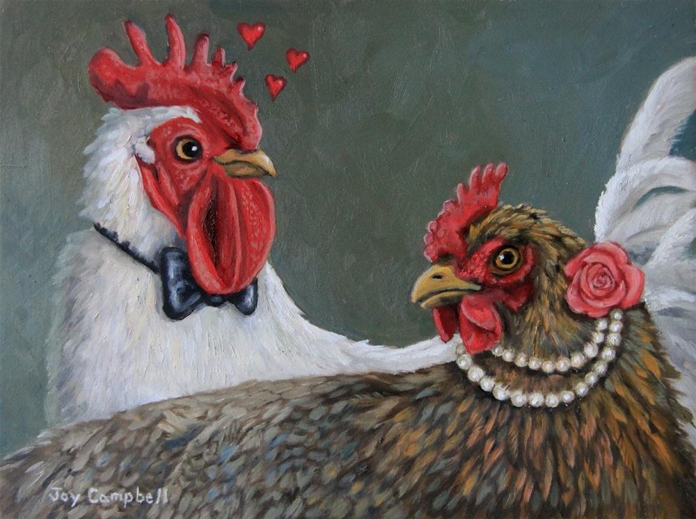 """Chicken Love"" original fine art by Joy Campbell"