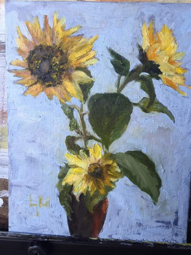 """Forever Sunflowers"" original fine art by Lucy Hammett"