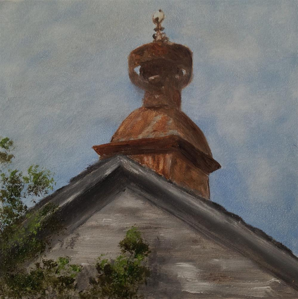 """Barn Cupola"" original fine art by Joy McMicken"