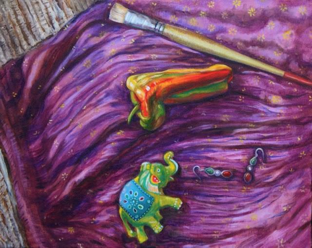 """""""Goa"""" original fine art by Hilary J. England"""