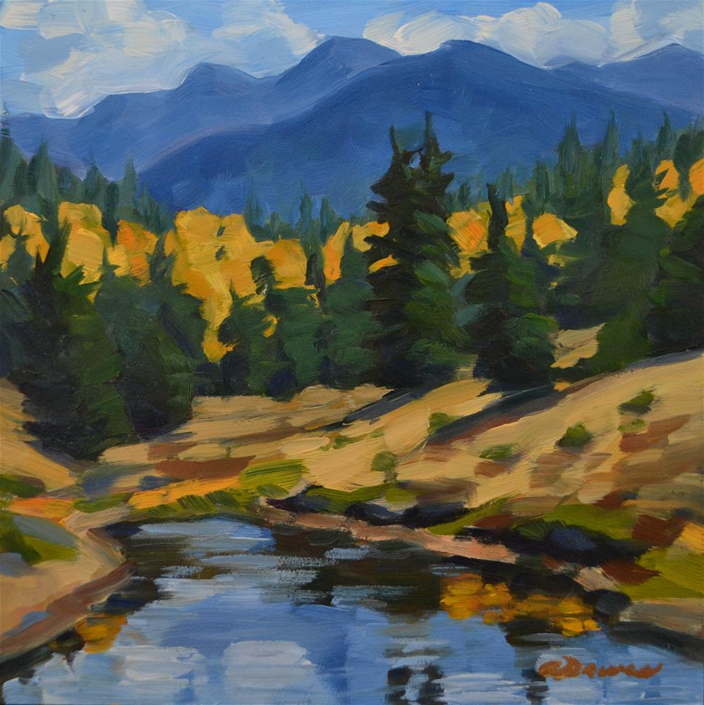 """Fall Reflections"" original fine art by April  Dawes"