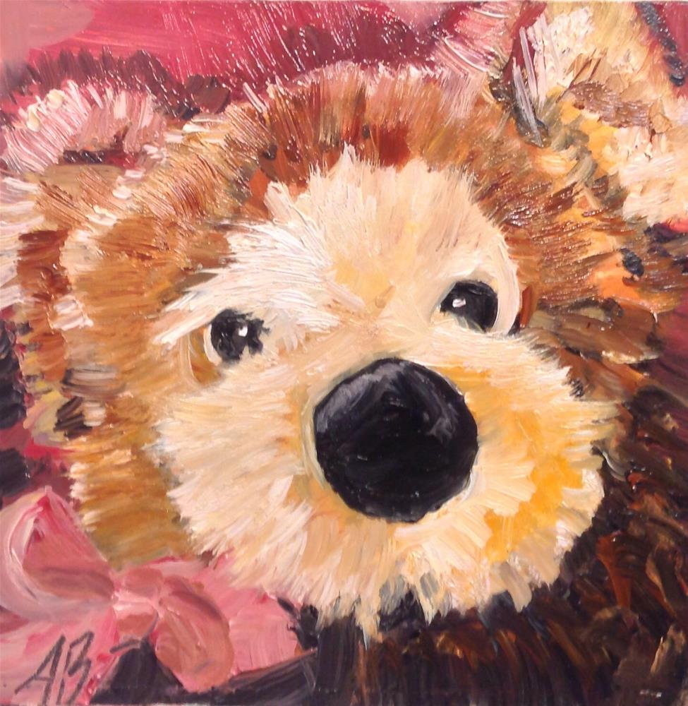 """Bear face love"" original fine art by Annette Balesteri"