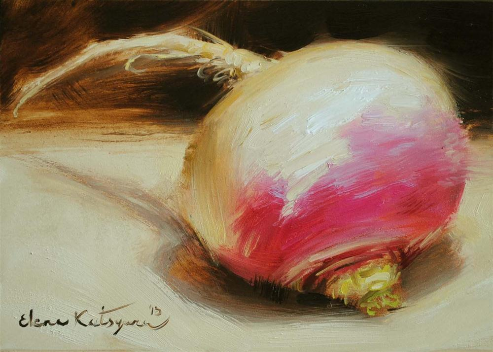 """Multicolored Turnip"" original fine art by Elena Katsyura"