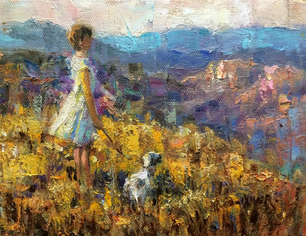 """GRAND VIEW"" original fine art by Julie Ford Oliver"