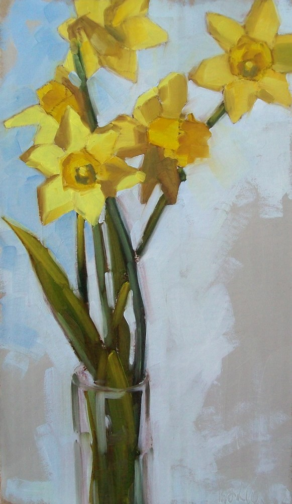 """Hello yellow"" original fine art by Brandi Bowman"