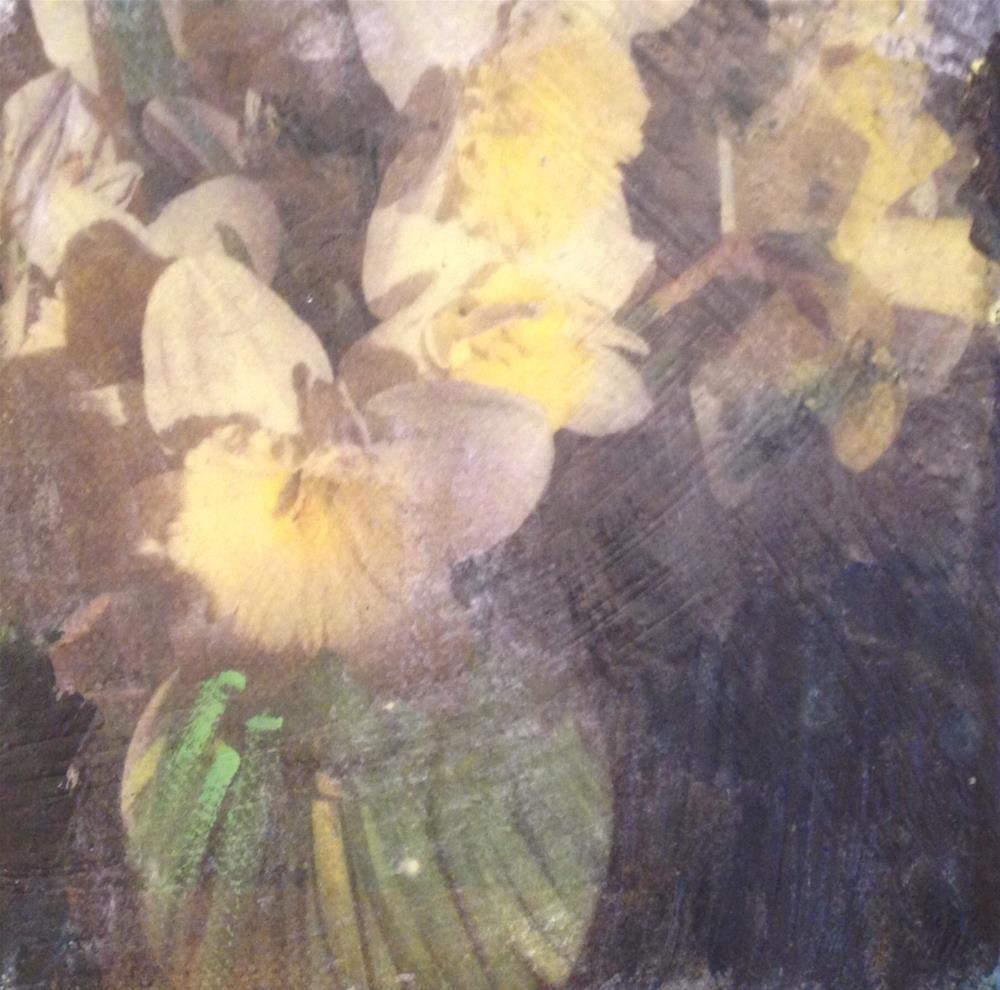 """""""Daffodils"""" original fine art by barbara quast"""