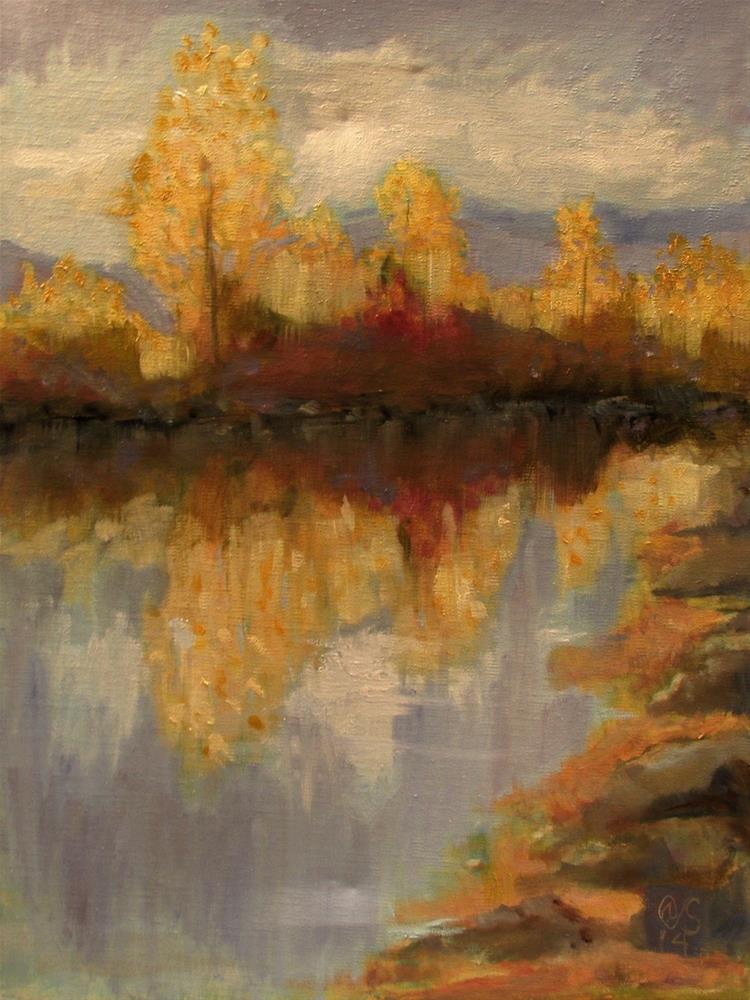 """Shadow Side of the Pond"" original fine art by Aurelio Saiz"